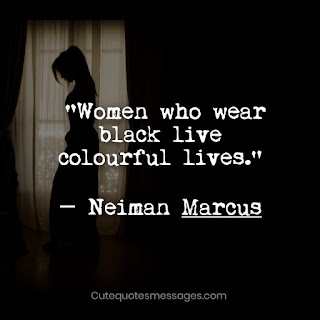 wearing black quotes
