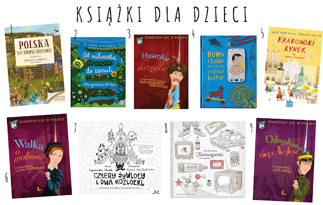 Książki dla dzieci i młodzieży oraz zestawy kreatywne dotyczące polskiej historii, nauki, przyrody, kultury... #2020