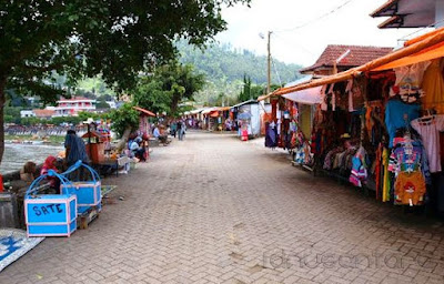 Para penjual makanan Dan Sofenir, Telaga Sarangan