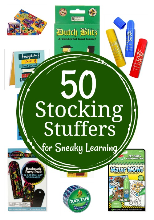 50 Stocking Stuffers for Sneaky Learning {all under $10}