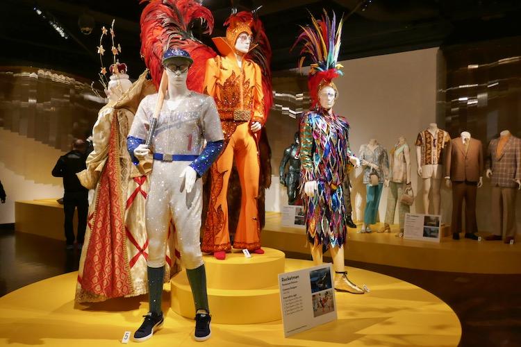 Rocketman movie costumes FIDM Museum