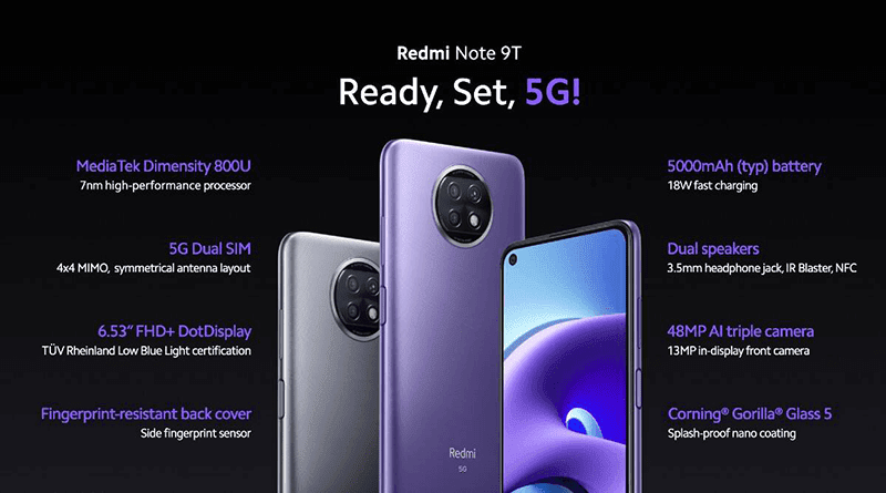 Key features of Redmi Note 9T