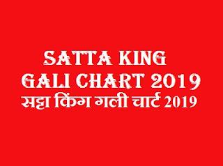 Satta King Gali Chart 2019