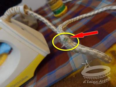 kabel rusak atau ada putus di bagian dalam