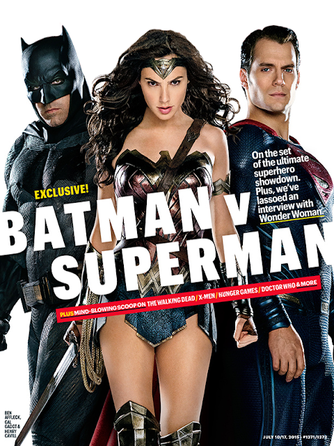 Batman, Wonder Woman şi Superman pe coperta Entertainment Weekly