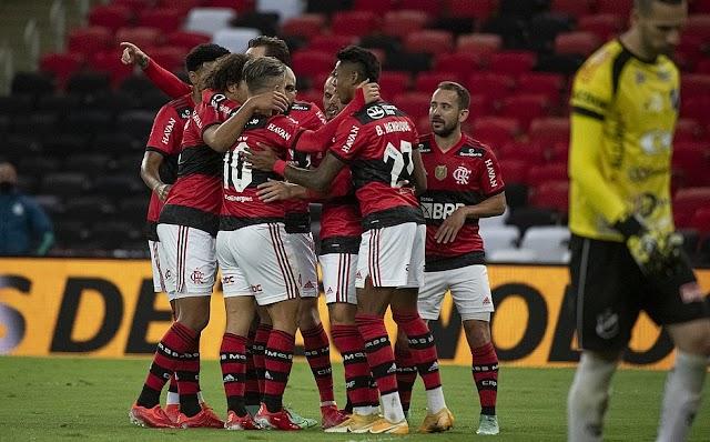 COPA DO BRASIL: Flamengo faz 6x0 no ABC e fica perto das quartas