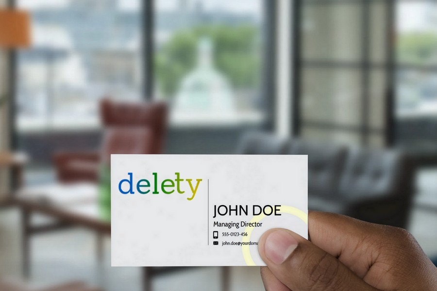 Delety Mock Brand Card