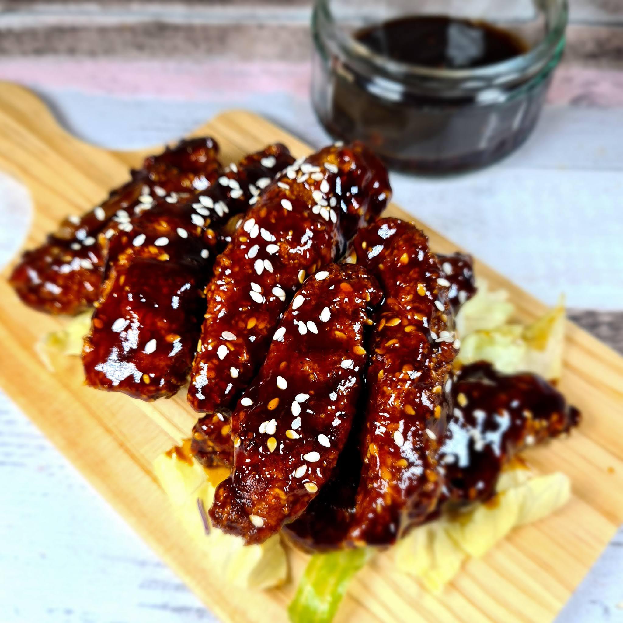 Sticky Sesame Chicken Strips | TGIs Fakeaway Recipe | Slimming Friendly
