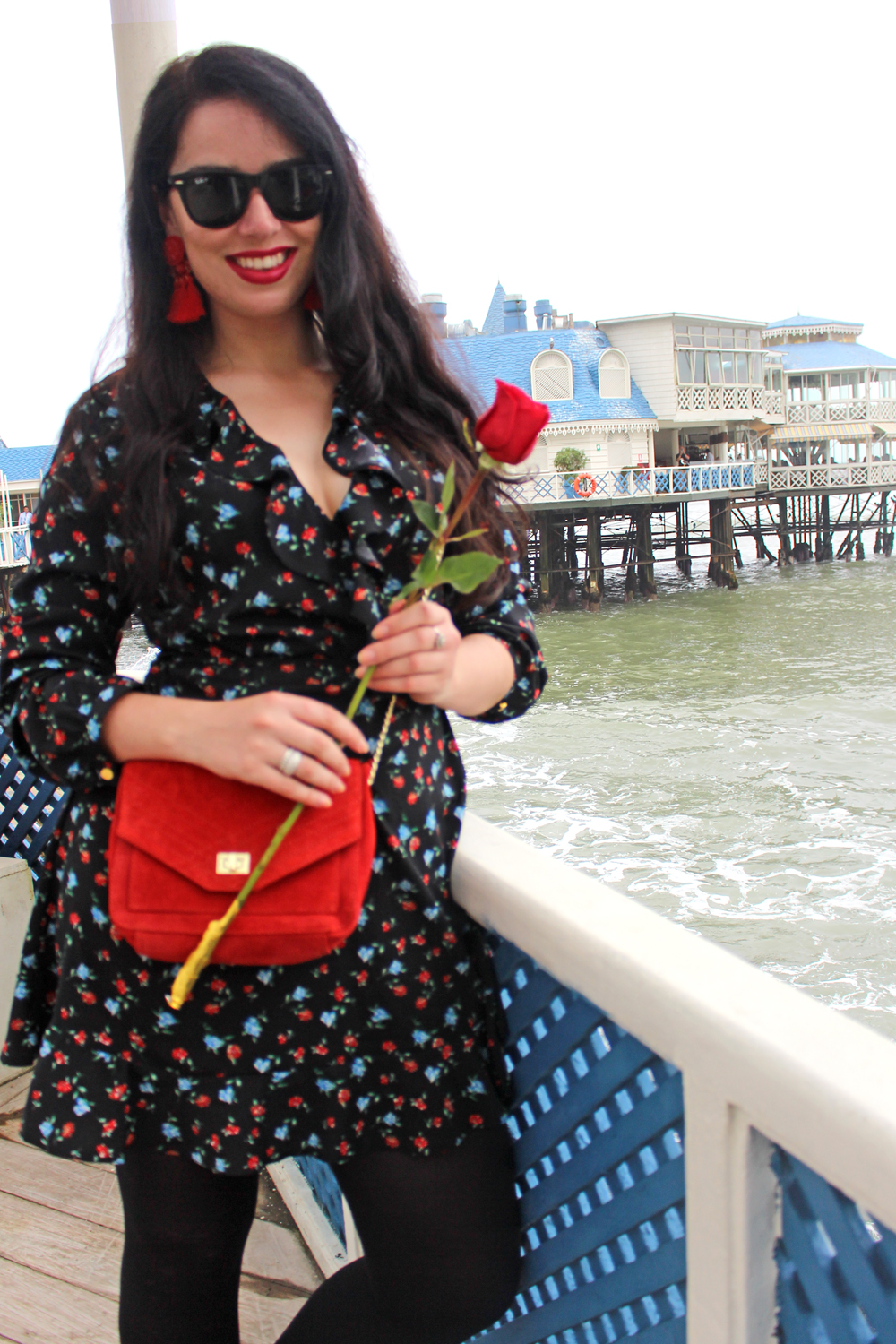 Blogger Emma Louise Layla at La Rosa Nautica in Lima, Peru - travel blog