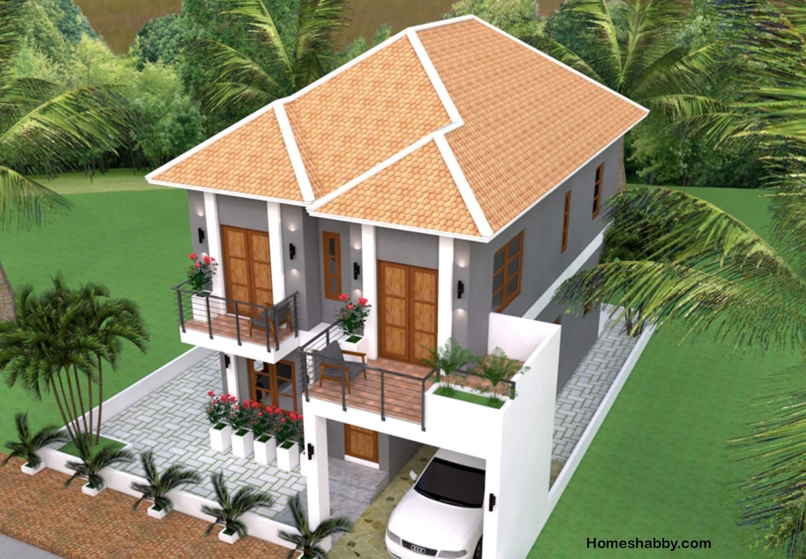 Desain dan Denah Rumah Minimalis 2 Lantai Cocok untuk di ...