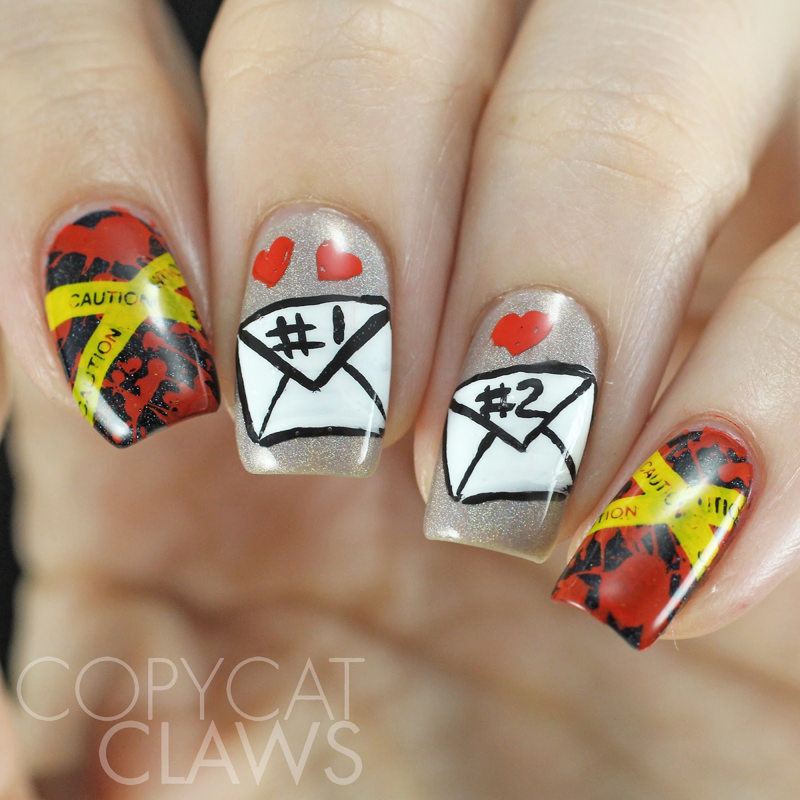 Copycat claws gone girl inspired nail art let me preface this by saying it was super difficult for me to come up with a look inspired by this book while i did like the book quite a bit prinsesfo Images