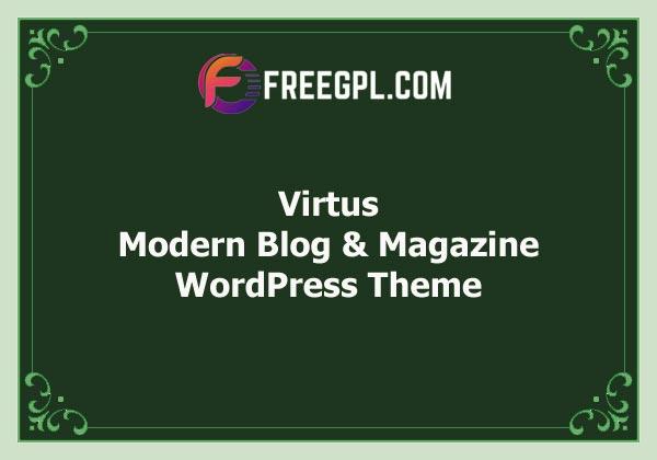 Virtus – Modern Blog & Magazine WordPress Theme Free Download