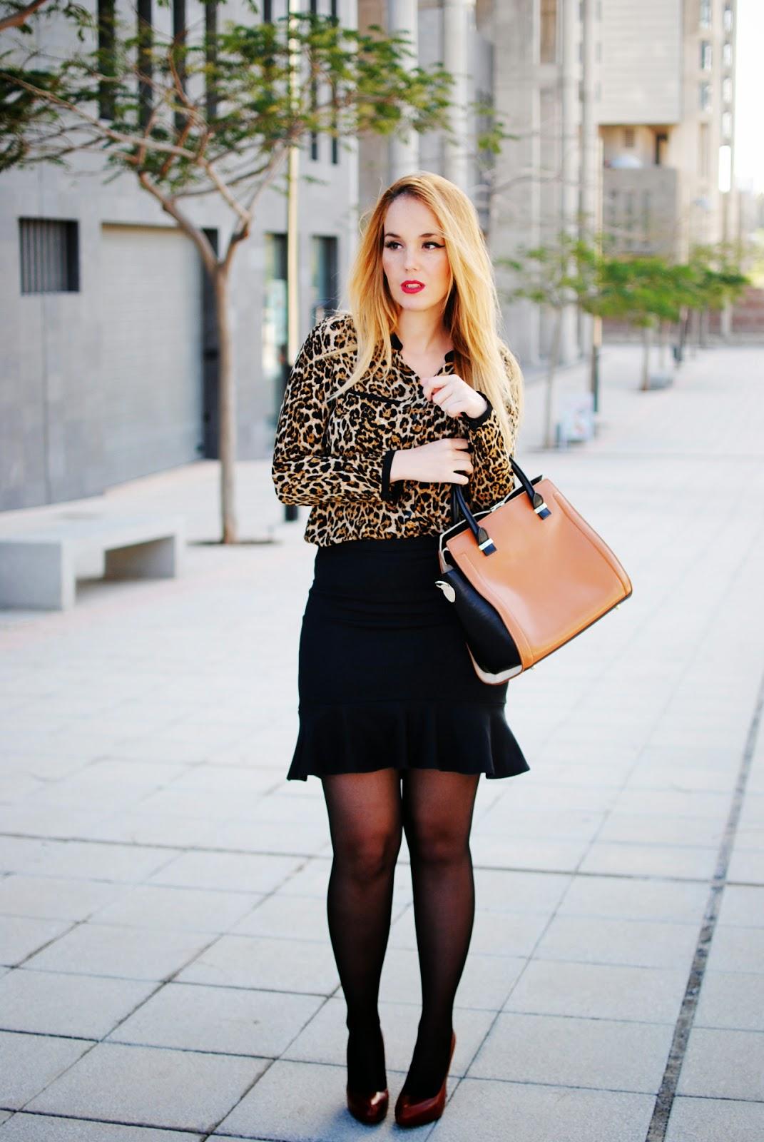 nery hdez, chicnova, print animal, estampado animal, estampado leopardo, falda trompeta, trumpet skirt
