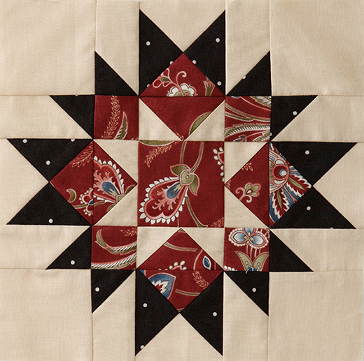 7th block from The Mystery Quilt, designed by Monique Dillard of Open Gate Quilts