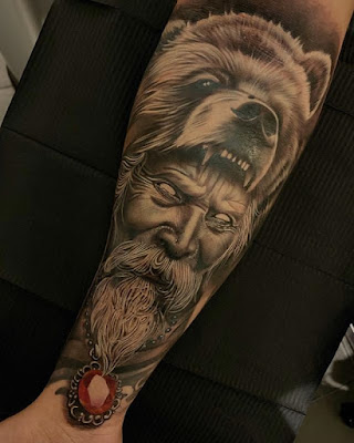 holy bear tattoo