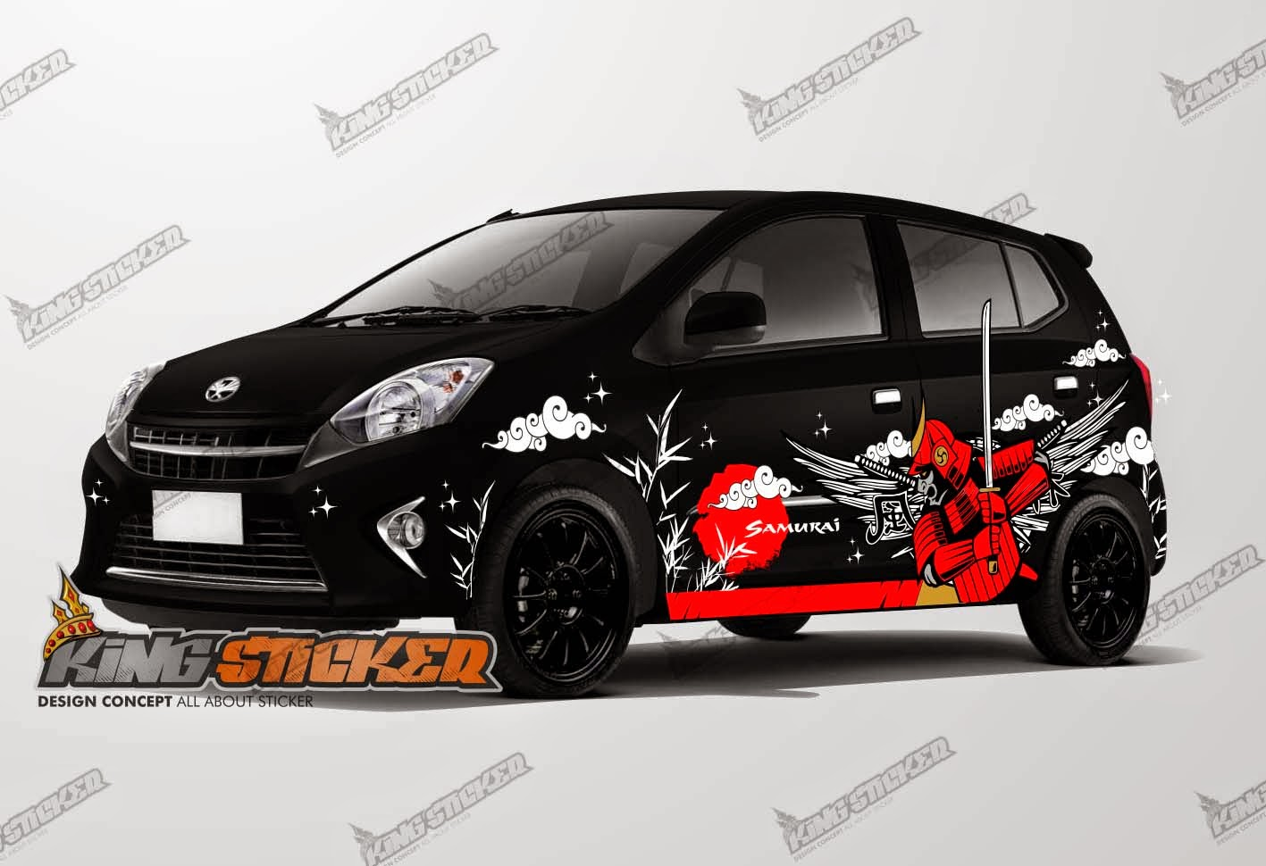 CUTTING STICKER TOYOTA AGYA | King Sticker bali