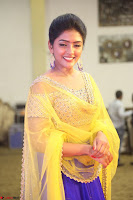 Actress Eesha in Yellow Choli Blue Ghagra at Darshakudu music launch 042.JPG