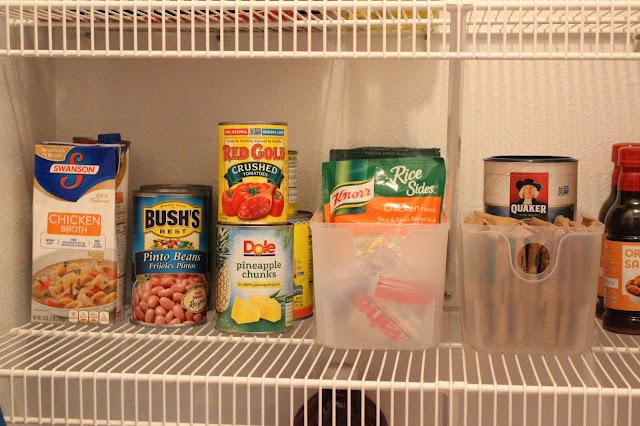 ingredients on pantry shelf