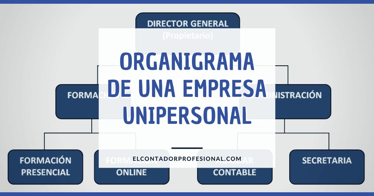 el organigrama de una empresa unipersonal