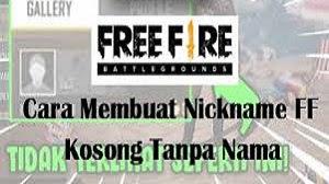Nickname FF Kosong