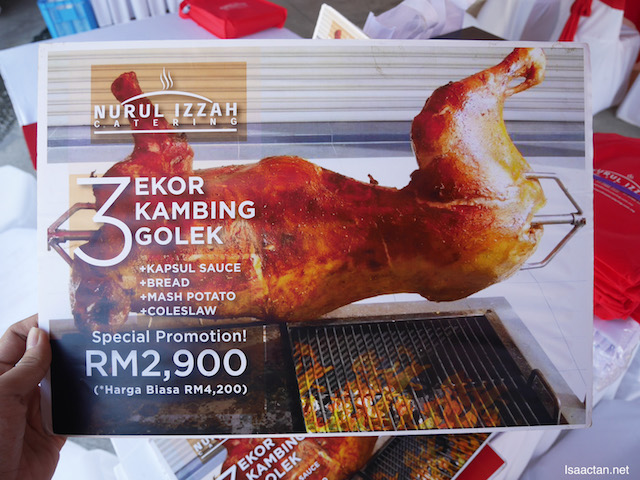 Nurul Izzah current promotion for their Kambing Golek, it's really CHEAP!