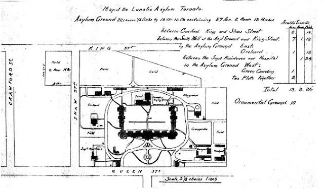 Map of the Lunatic Asylum Toronto, December 23, 1891