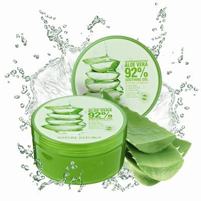 เจลว่านหางจระเข้ Nature republic aloe vera 92% soothing gel
