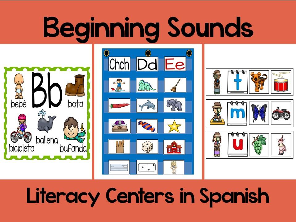 Beginning Sounds BUNDLE in Spanish-Sonidos Iniciales