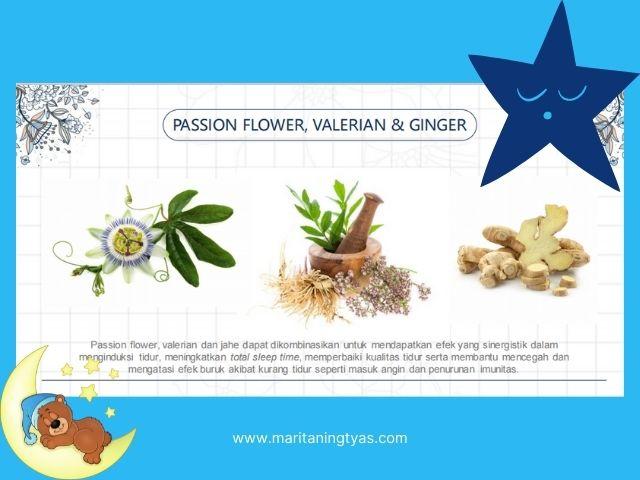 passion flower, valerian dan jahe