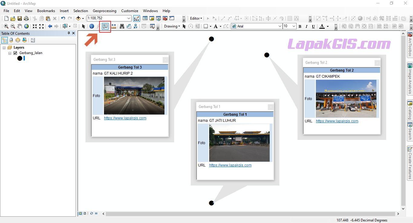 Cara Membuat HTML Popup pada ArcGIS