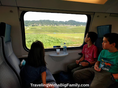 Traveling by train in Europe with a big family to multiple countries