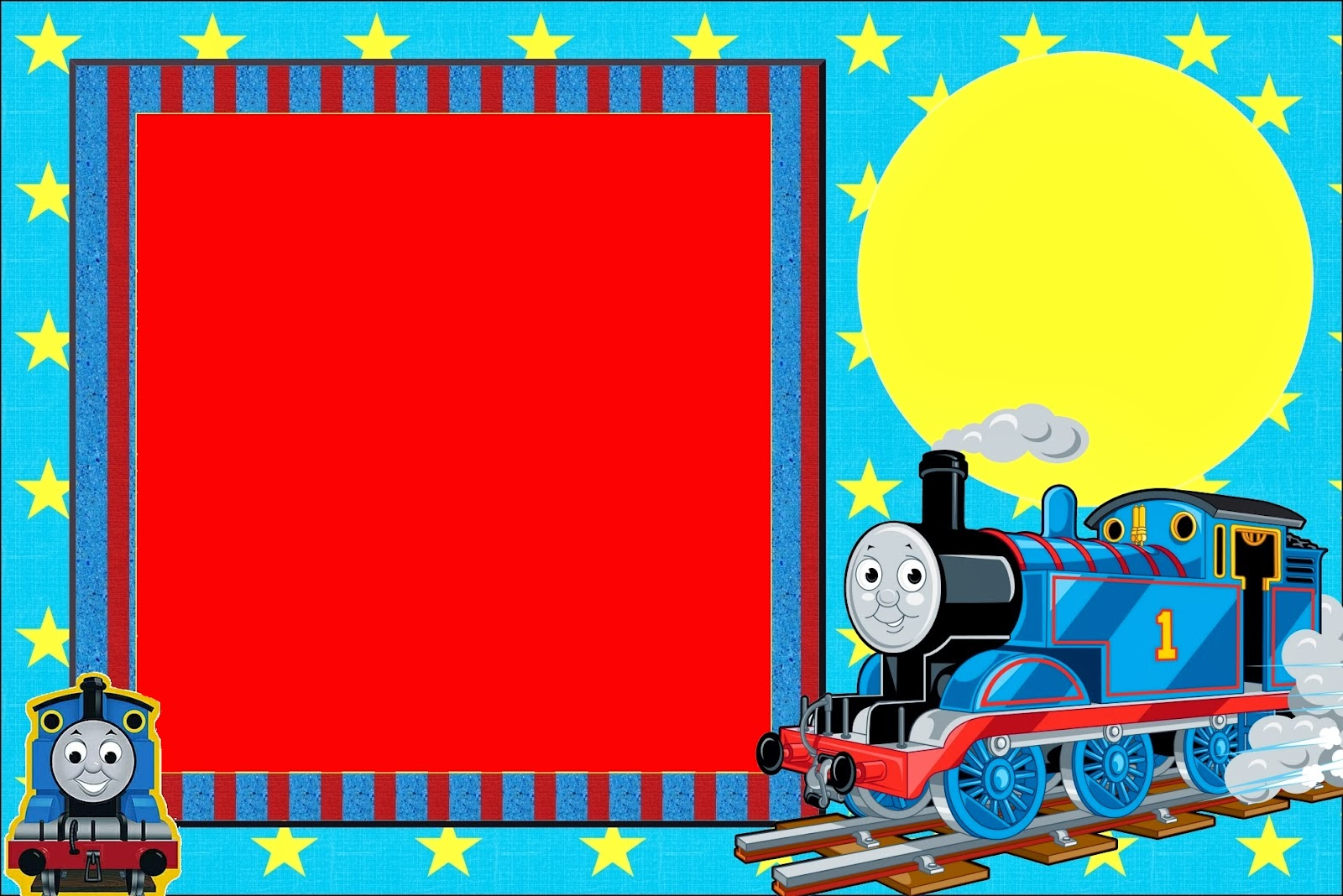 Thomas The Train Free Printable Invitations Labels Or Cards