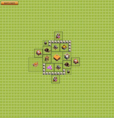 Base Clash of Clans Town Hall 2