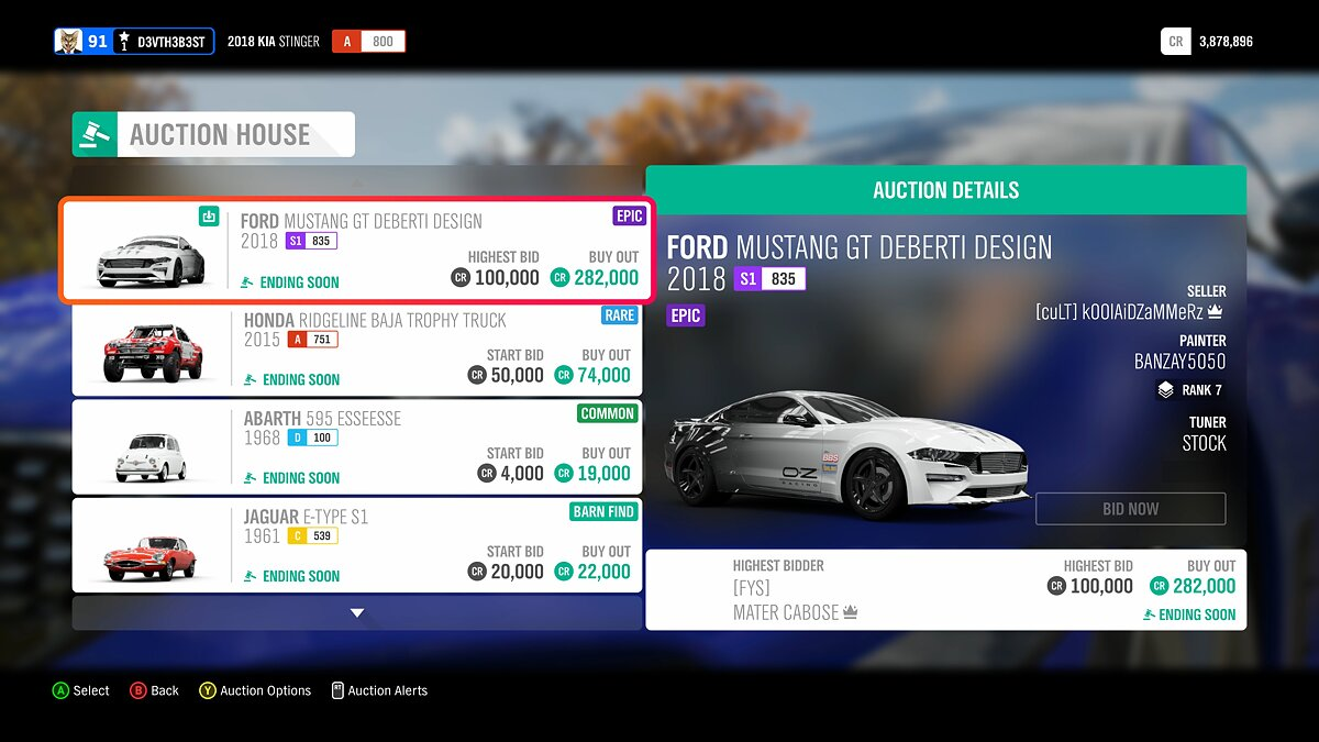 Sell cars at auctions