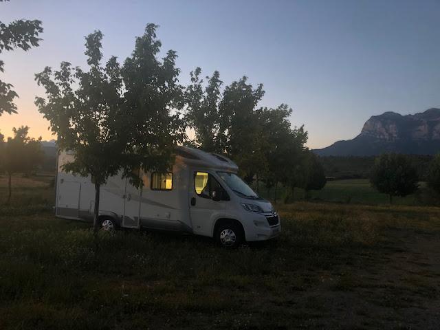 Área de autocaravanas de Ainsa (Huesca)