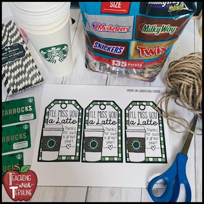 Teacher Starbucks Gift Card Tag