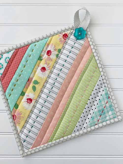 Striped Quilted Hot Pads
