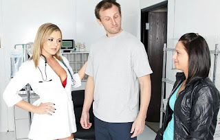 Sexy doctor Bree Olson - Care To Donate Some Fluid?