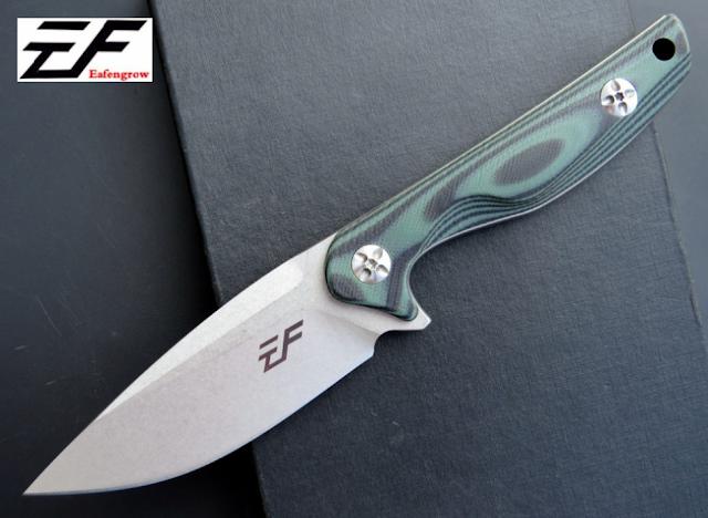 มีดใบตาย Eafengrow รุ่น EF 108 ด้ามสีเขียว-ดำ