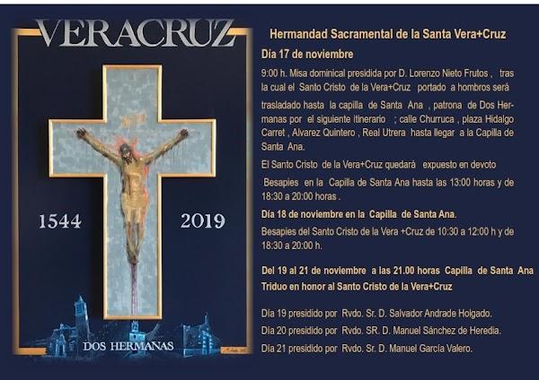 Actos por el 475 aniversario de la Fundación del Santo Cristo de la Vera-Cruz de Dos Hermanas