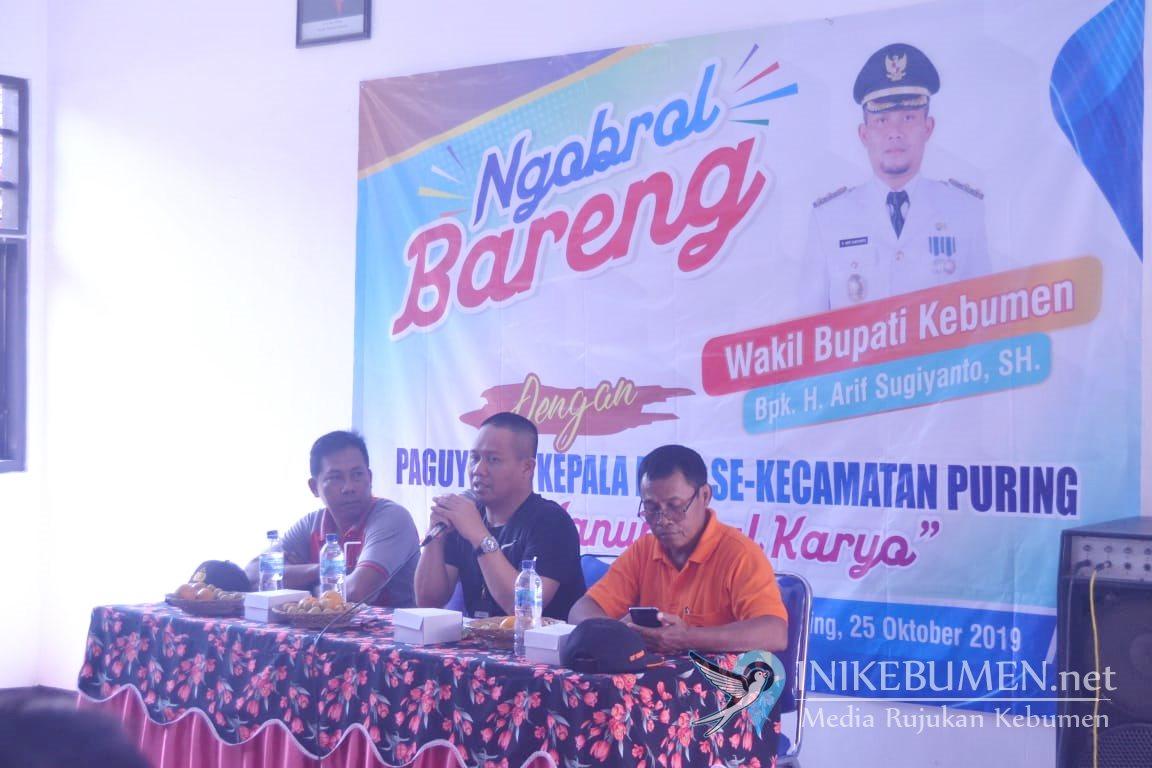 Kunjungi Puring, Wakil Bupati Kebumen Ngobrol Santai dengan Camat dan Para Kades