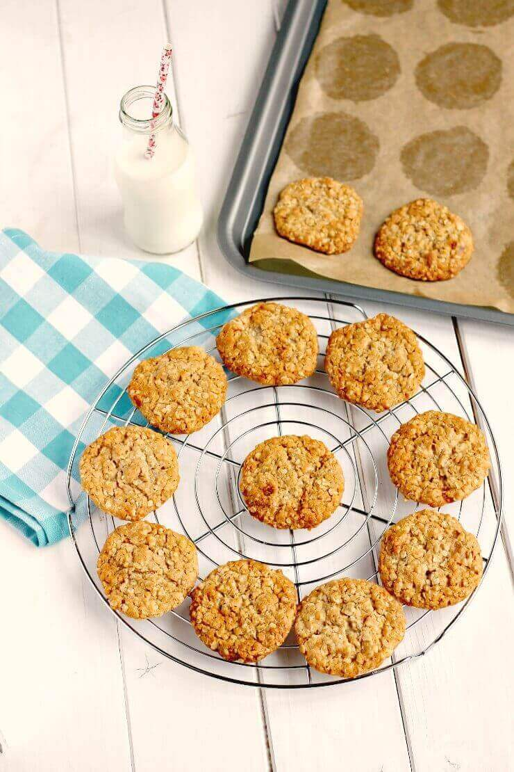 easy syrup cookies on baking tray