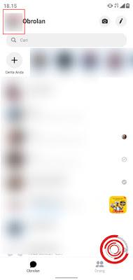 1. Silakan kalian buka aplikasi Facebook Messenger lalu pilih menu Saya