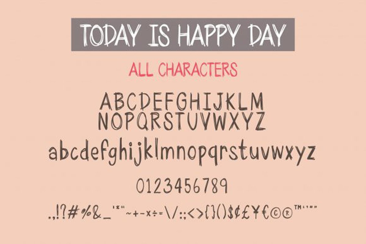 Today is Happy Day Font..
