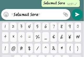 Cara membuat tulisan tebal di WhatsApp (Bold)