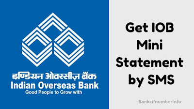 Get IOB Mini Statement Online By SMS