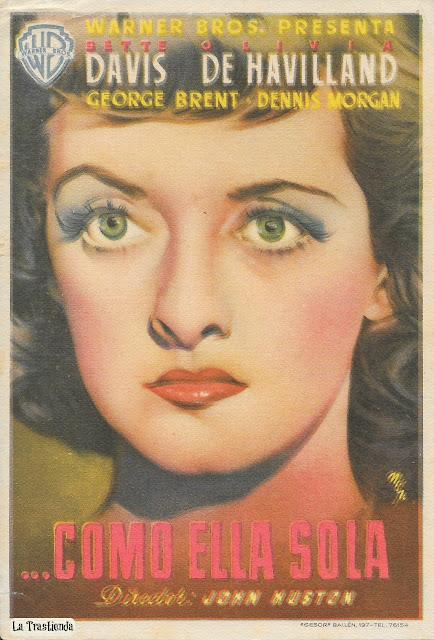 Como Ella Sola - Programa de Cine - Bette Davis - Olivia de Havilland - George Brent - Humphrey Bogart