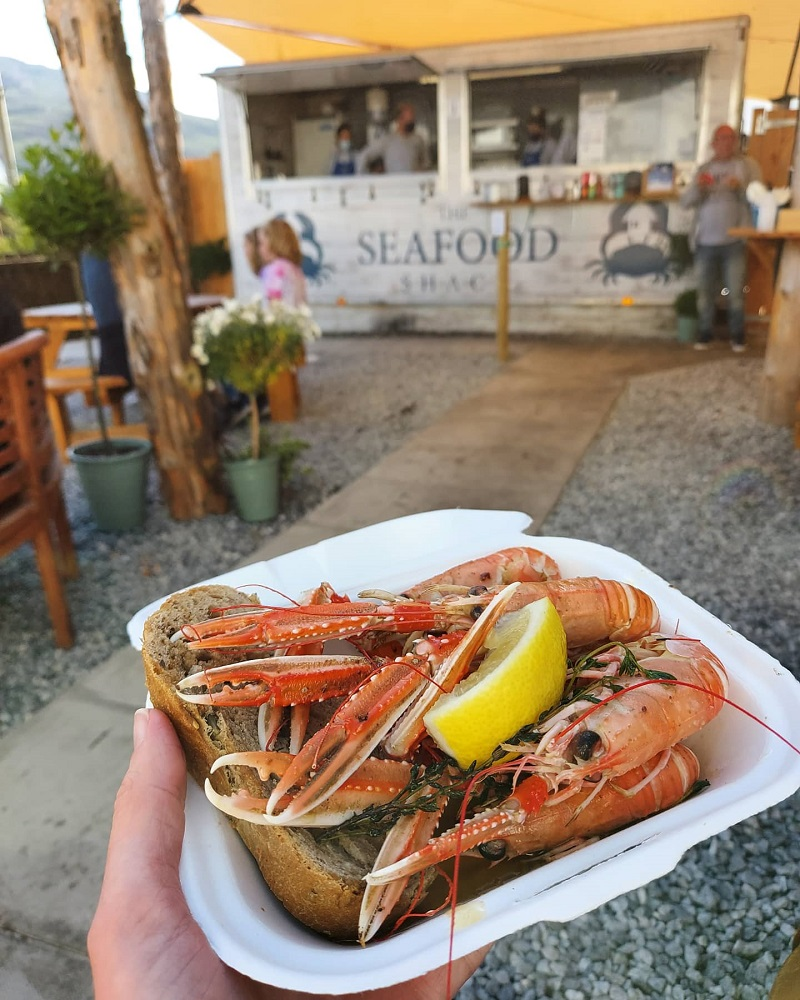 Langoustines in garlic butter, at the Seafood Shack in Ullapool