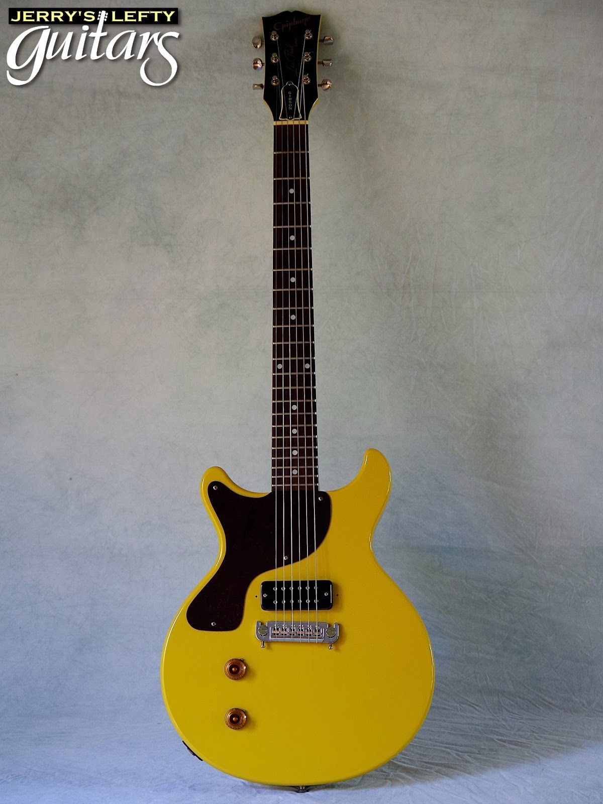 jerry 39 s lefty guitars newest guitar arrivals updated weekly epiphone lp jr dc tv yellow used. Black Bedroom Furniture Sets. Home Design Ideas