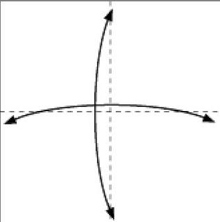 Bước 1: Gấp tờ giấy lại làm bốn theo như hình vẽ sau đó mở ra để tạo nếp gấp.